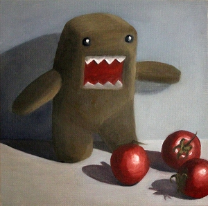 Domo Kun and Tomatoes