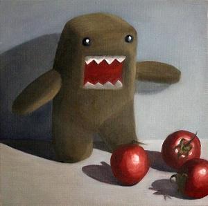 Domo Kun and Tomatoes