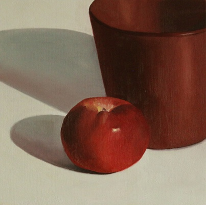 Red apple with pot